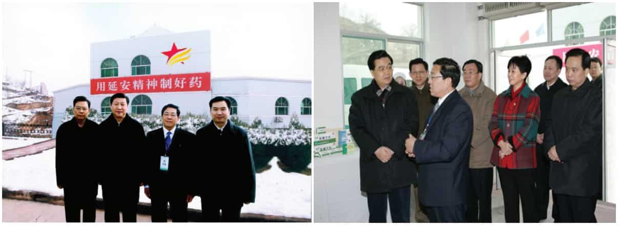 Các lãnh đạo Trung Quốc (Chủ tịch Hồ Cẩm Đào, Tập Cận Bình) đến thăm nhà máy