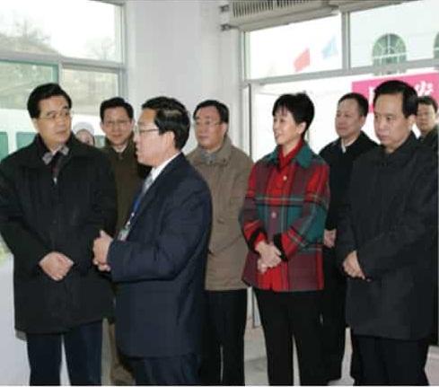 Chủ tịch Hồ Cẩm Đào thăm nhà máy Diên An