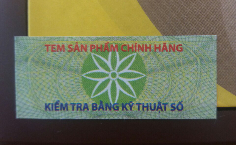 Tem chính hãng An Cung Rùa Vàng